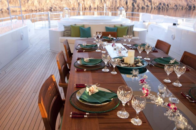 Yacht ARIANNA -  Sundeck Dining